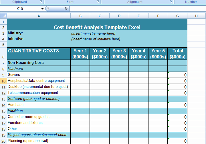 Cost Benefit Analysis Excel Template Best Of Get Cost Benefit Analysis Template Excel Microsoft Excel