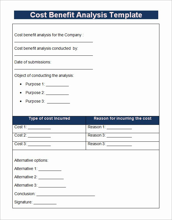 Cost Benefit Analysis Template Excel Microsoft Elegant 18 Cost Benefit Analysis Templates Word Pdf