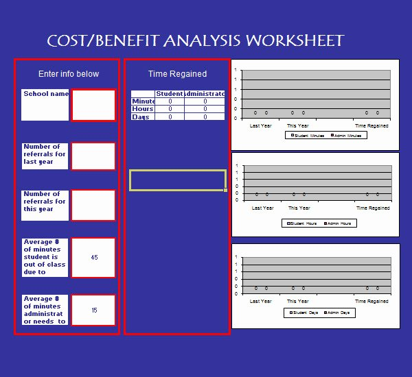 Cost Benefit Analysis Template Excel Microsoft Elegant Cost Benefit Analysis Template 13 Download Free