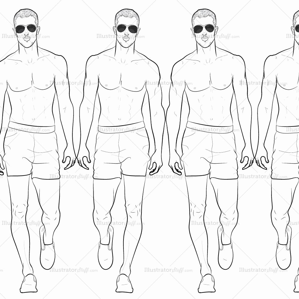 Costume Design Template Male Beautiful Male Runway Croquis Template Jake – Illustrator Stuff