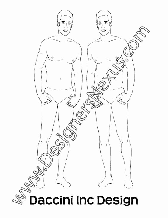 Costume Design Template Male Elegant Croquis Fashion Design Portfolios and Fashion