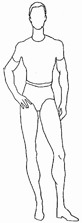 Costume Design Template Male Fresh Plus Size Croquis