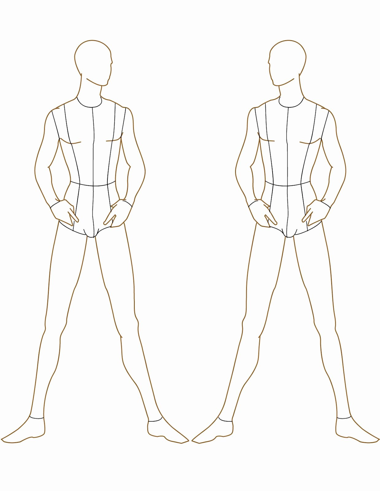 Costume Design Template Male New Fashion Studio Fashion Templates