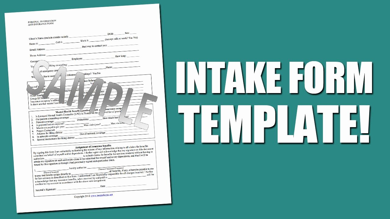 Counseling Intake form Template Awesome Best Intake form Template for Mental Health assessment