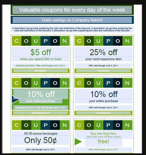 Coupon Template Word Best Of Coupon Template Word