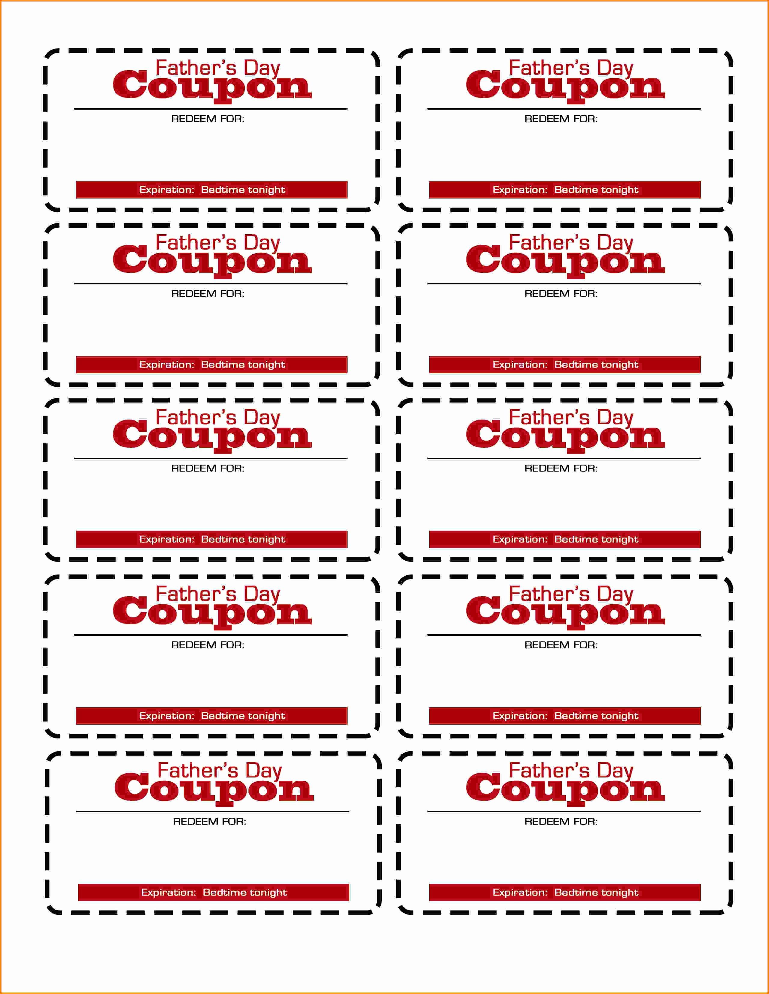 Coupon Template Word Fresh Coupon Template Printable Free