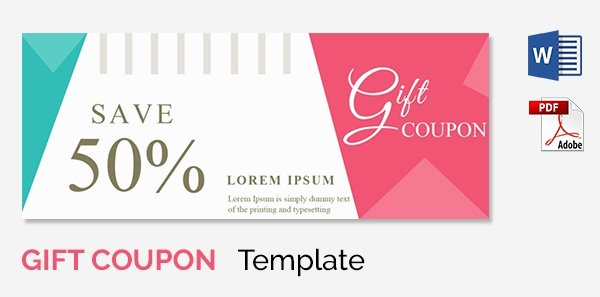 Coupon Template Word Luxury Blank Coupon Templates – 26 Free Psd Word Eps Jpeg