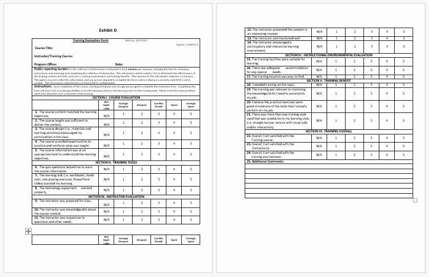 Course Evaluation Template Word Beautiful Training Evaluation form Templates Evaluate the Progress