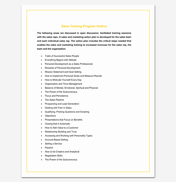 Course Outline Template Word Best Of Program Outline Template 14 Sample Example & format