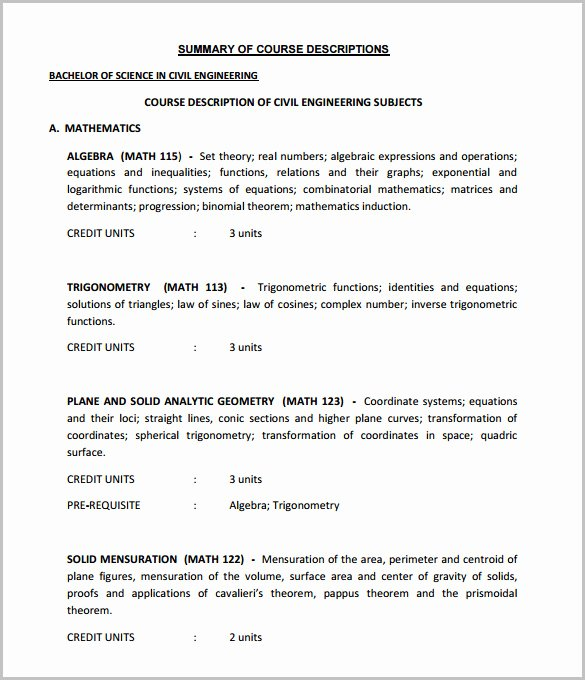 Course Outline Template Word Elegant 14 Training Course Outline Template Doc Pdf