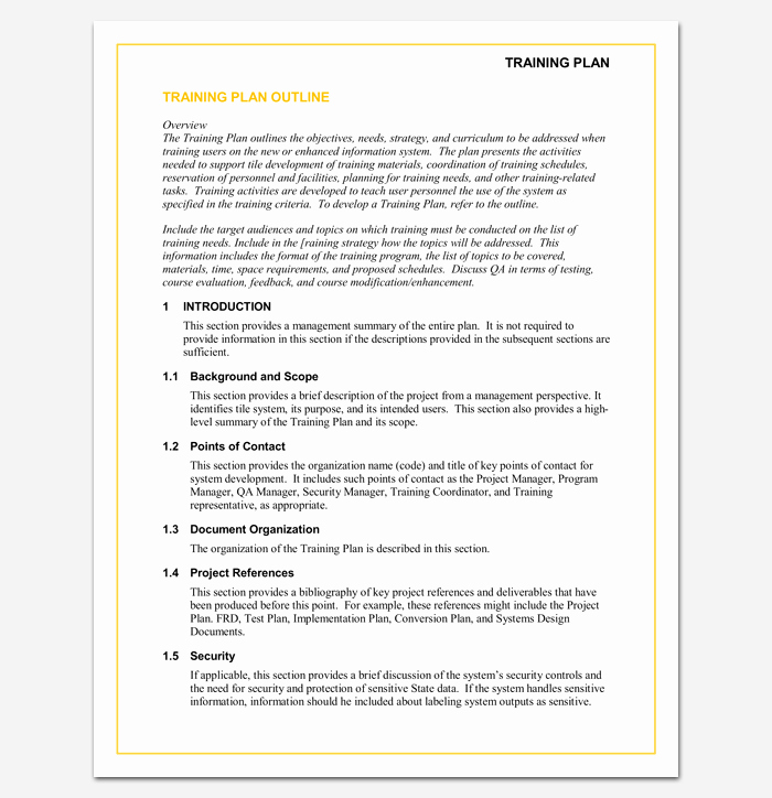 Course Outline Template Word Elegant Training Program Outline Template 19 for Word & Pdf