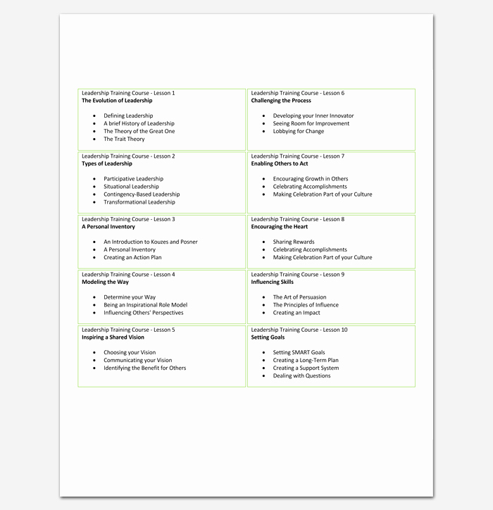 Course Outline Template Word Luxury Training Program Outline Template 19 for Word & Pdf