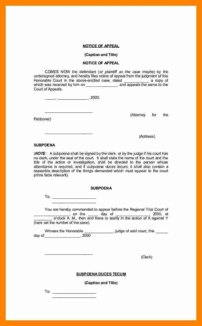 Court Appeal Letter Sample Awesome 6 Notice Of Appeal Sample Philippines