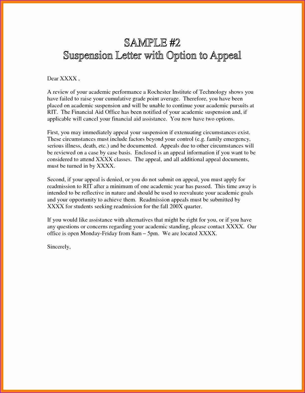Court Appeal Letter Sample Unique Appeal Letter for University Graduate School Admission