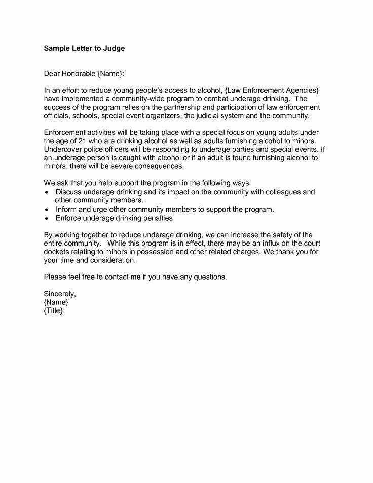 Court Letter format Elegant Sample Letter to Judge Pdf 15qwtc3t Letter