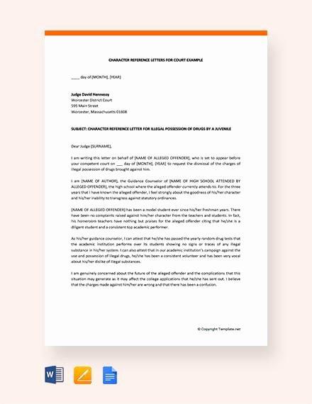 Court Letter format Unique 11 Character Letter Templates for Court Pdf Word