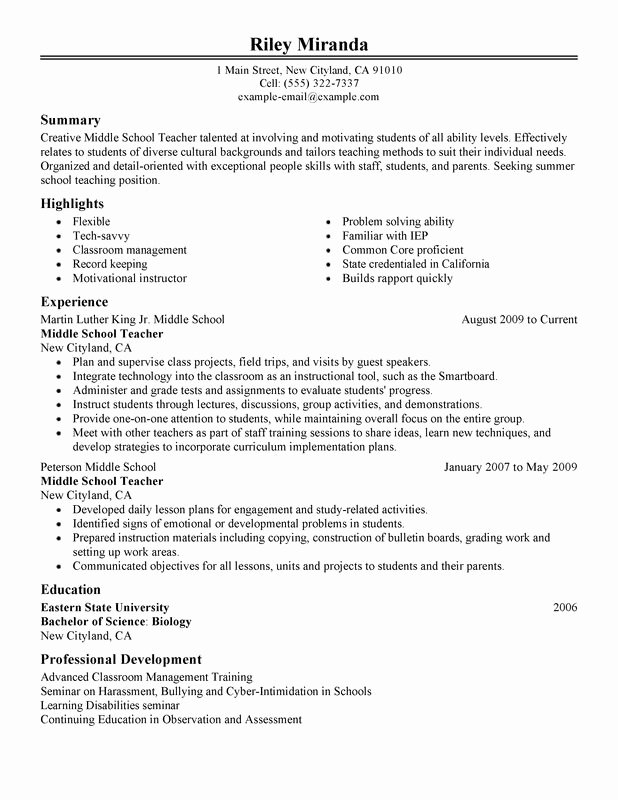Cover Letter for Kroger Beautiful Summer Teacher Resume Examples Created by Pros