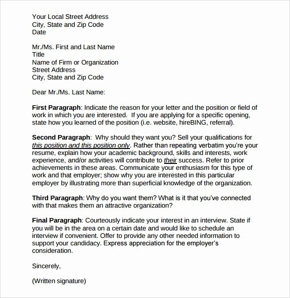 Cover Letter format Uf New Cover Letter Examples Dear Employer