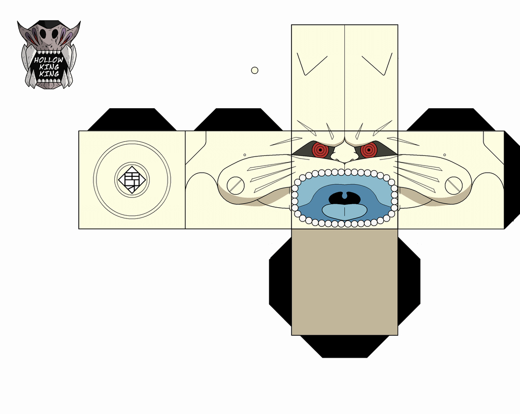 Crab Rave Template Awesome Lion Headed Kannon Paper toy