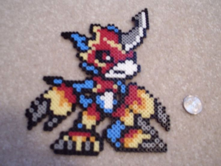 Crab Rave Template Elegant 106 Best Digimon Perler Beads Images On Pinterest