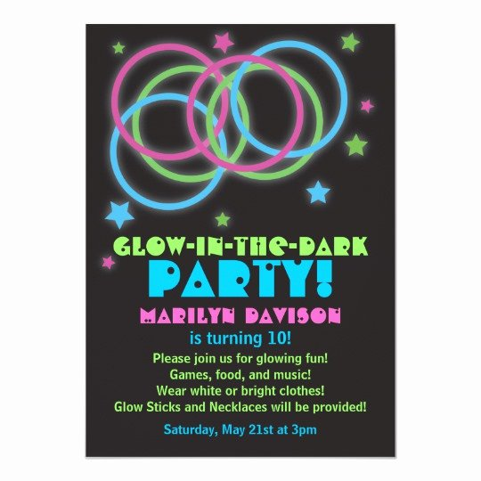 Crab Rave Template Fresh Sweet 16 Glow Party Invitations