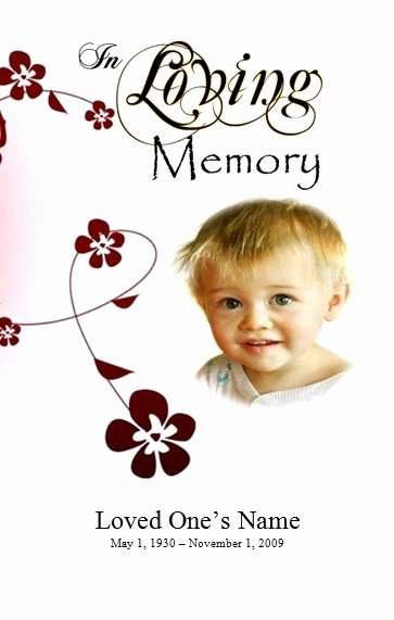 Create A Fake Obituary Awesome Program Template Funeral order Of Service and Infants On