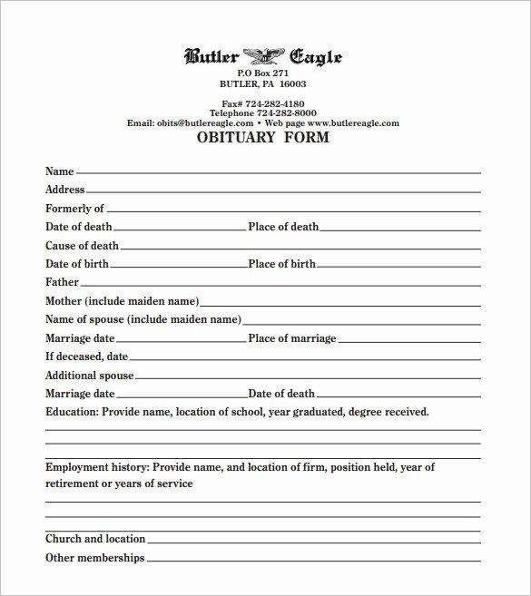 Create A Fake Obituary Luxury Funeral Obituary Template 25 Free Word Excel Pdf Psd