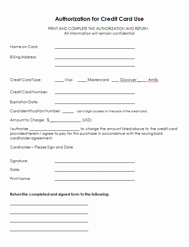Credit Card Authorization form Word Inspirational Credit Card Info form Google Search Sja