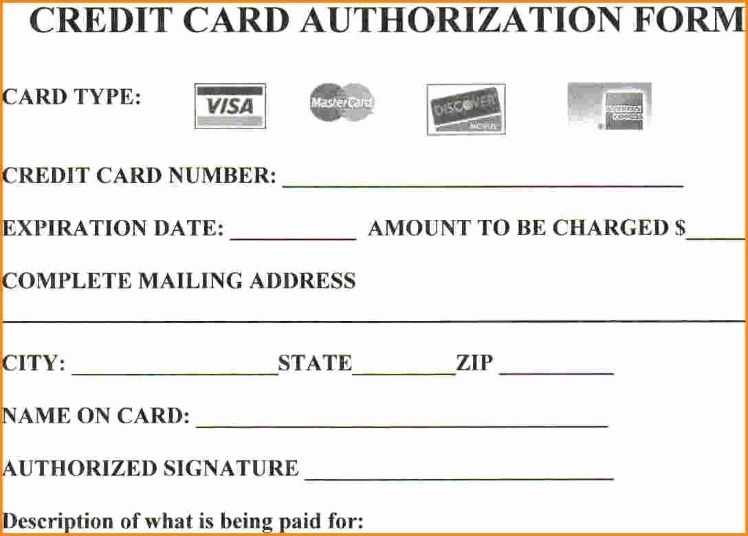 Credit Card Authorization form Word Luxury 25 Credit Card Authorization form Template Free Download