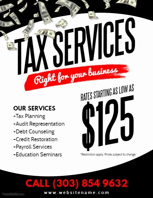 Credit Repair Flyer Template Awesome Tax Services Flyer Template