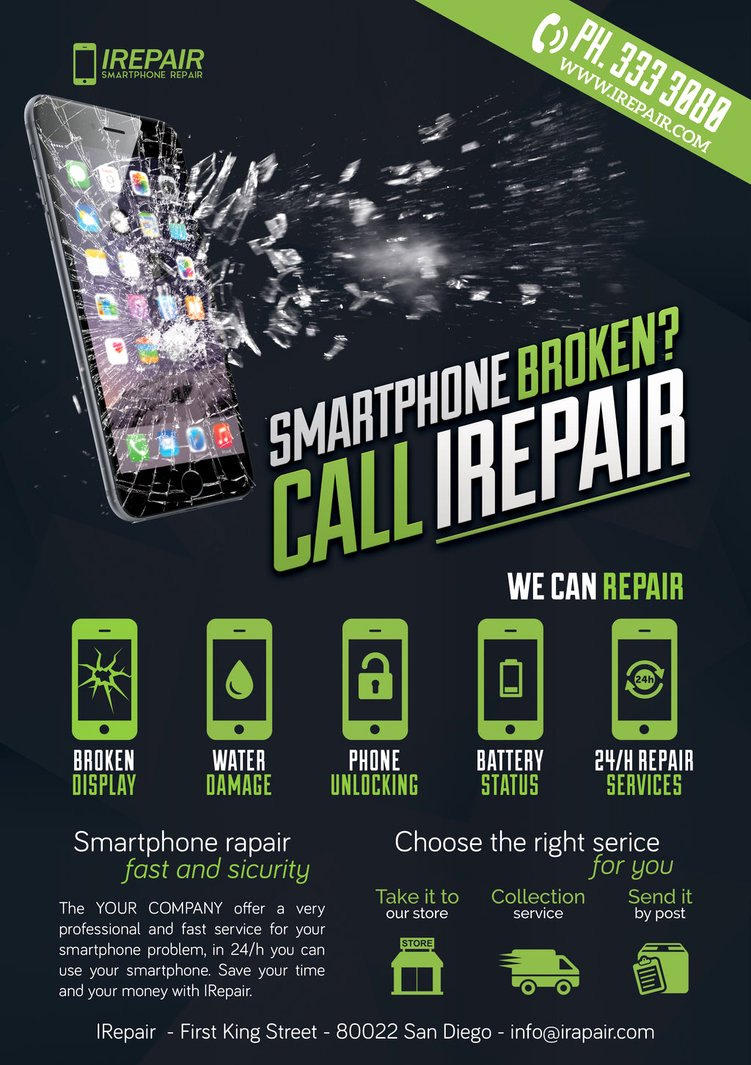 Credit Repair Flyer Template Best Of Smartphone Repair 3 Flyer Poster by Giunina On Deviantart