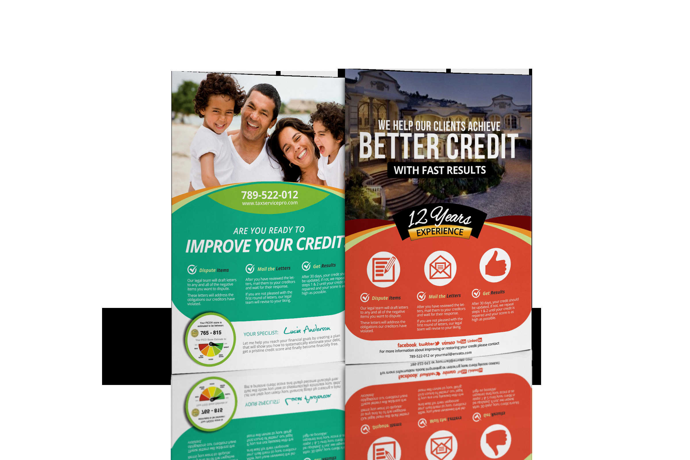 Credit Repair Flyer Template Elegant Credit Repair Flyer Bundle Ready to Wake Up