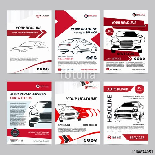 "Credit Repair Flyer Template Lovely ""auto Repair Services Business Layout Templates Set"