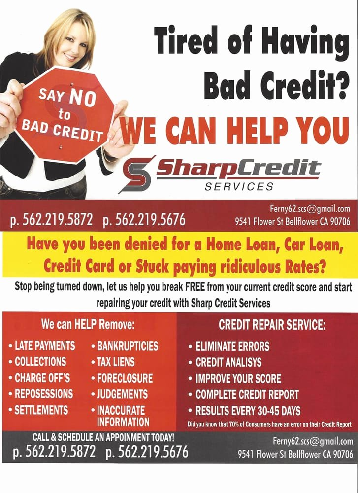 Credit Repair Flyer Template New Sharp Credit Services 15 S Debt Relief Services