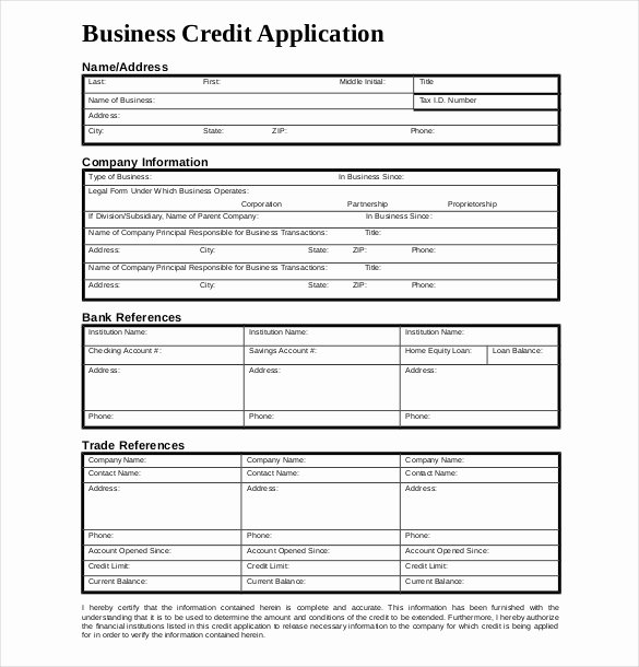 Credit Request form Lovely 18 Credit Application Templates Free Google Docs