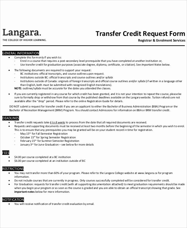 Credit Request form Luxury Sample Transfer Request form 12 Examples In Word Pdf