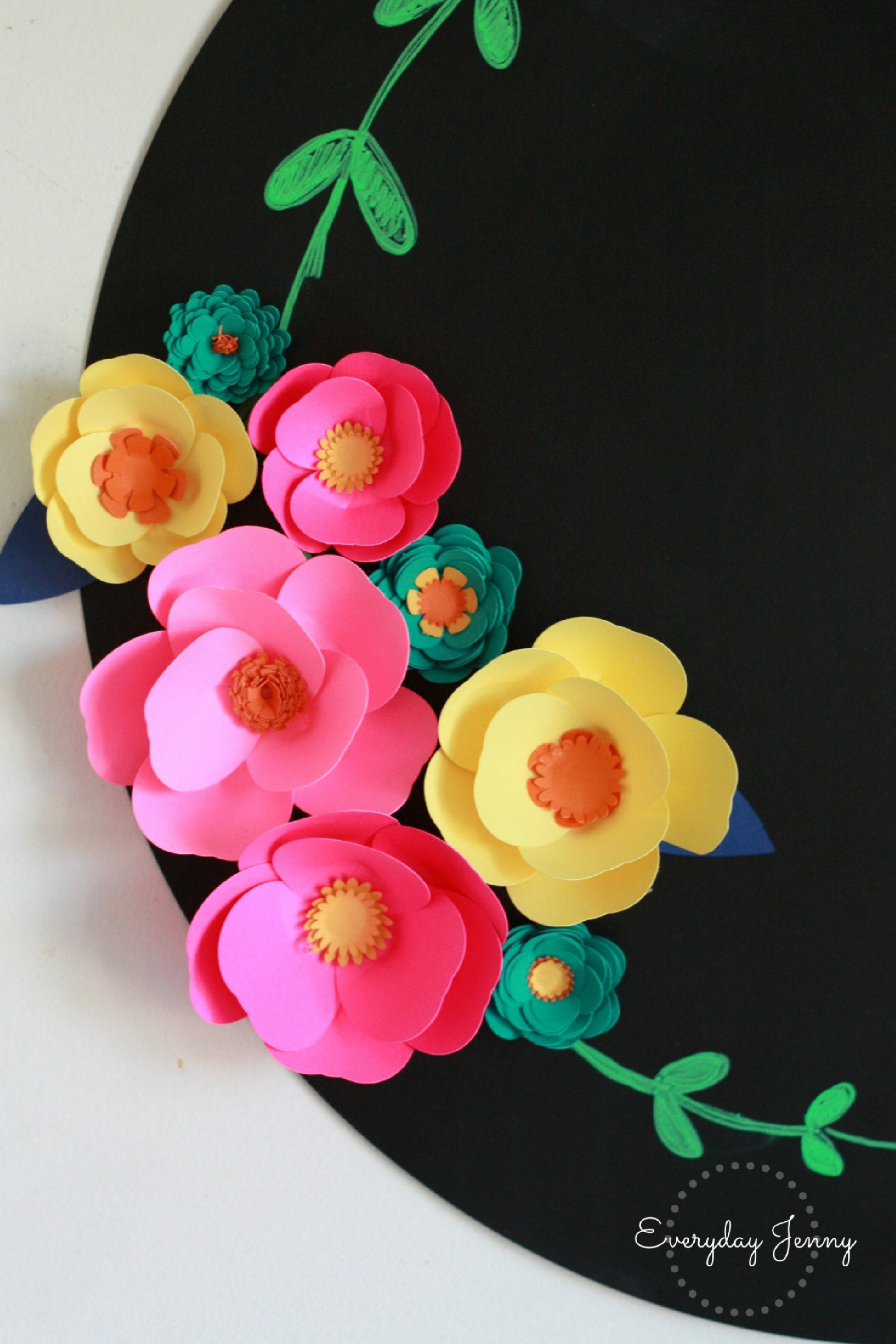 Cricut Paper Roses Elegant 3d Paper Flower Magnets with Cricut