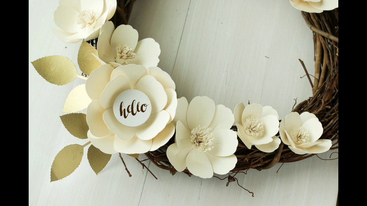 Cricut Paper Roses Inspirational Cutting Paper Flowers with Your Cricut