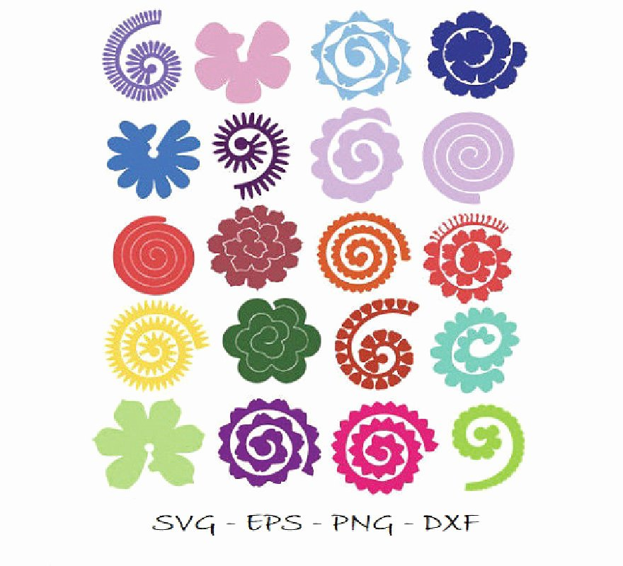 Cricut Paper Roses Luxury Rolled Paper Flowers Svg Flowers Svg Rolled Flower Svg