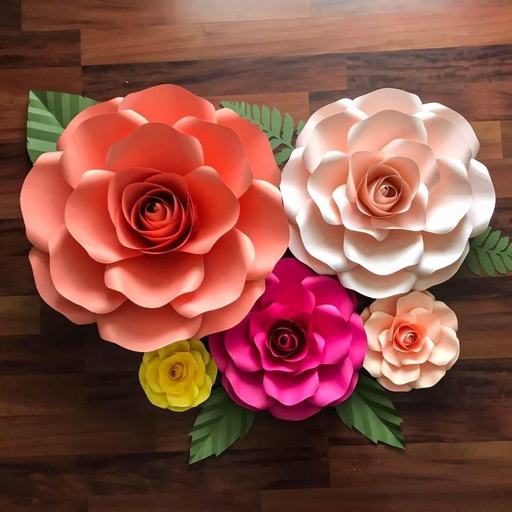 Cricut Paper Roses New Paper Flowers Svg Bo Of 5 Sizes Rose Paper Flower