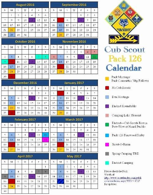 Cub Scout Calendar Template Awesome Public Calendar Cub Scout Pack 126 Peoria Arizona