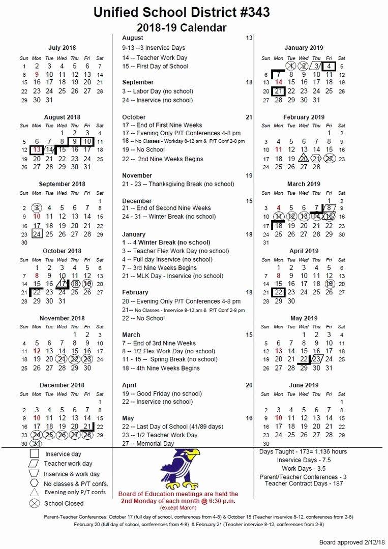 Cub Scout Calendar Template Beautiful Perry Public Schools Usd343 Usd 343 2018 2019 Calendar