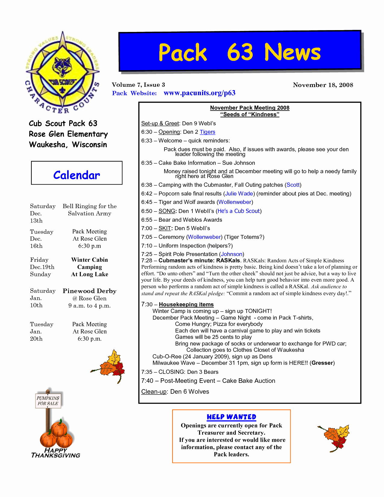 Cub Scout Calendar Template Lovely Cub Scout Newsletter Template Google Search
