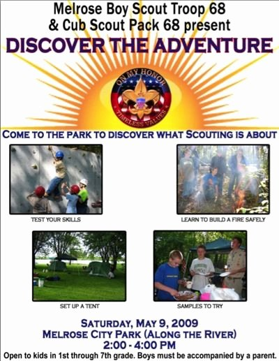 Cub Scout Flyer Template Awesome A Scoutmaster S Blog 2009 April