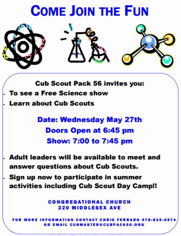 Cub Scout Flyer Template Awesome Cub Scout Pack 56 to Hold Registration Night May 27