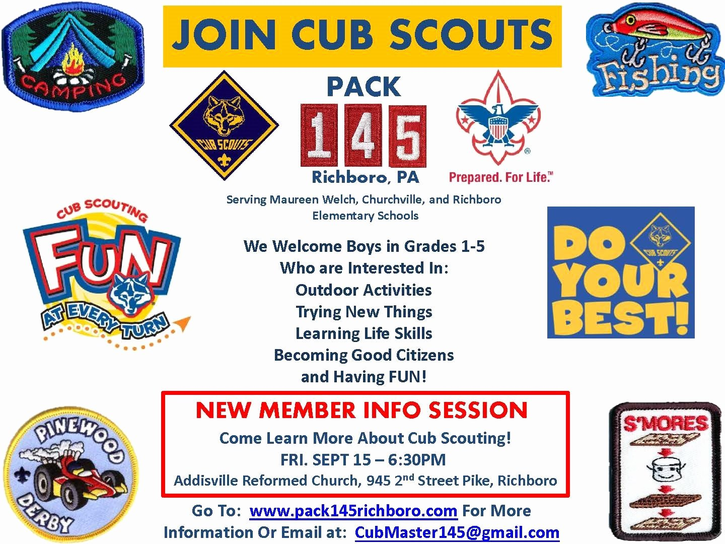 Cub Scout Flyer Template Awesome Richboro E Friday Folder Overview