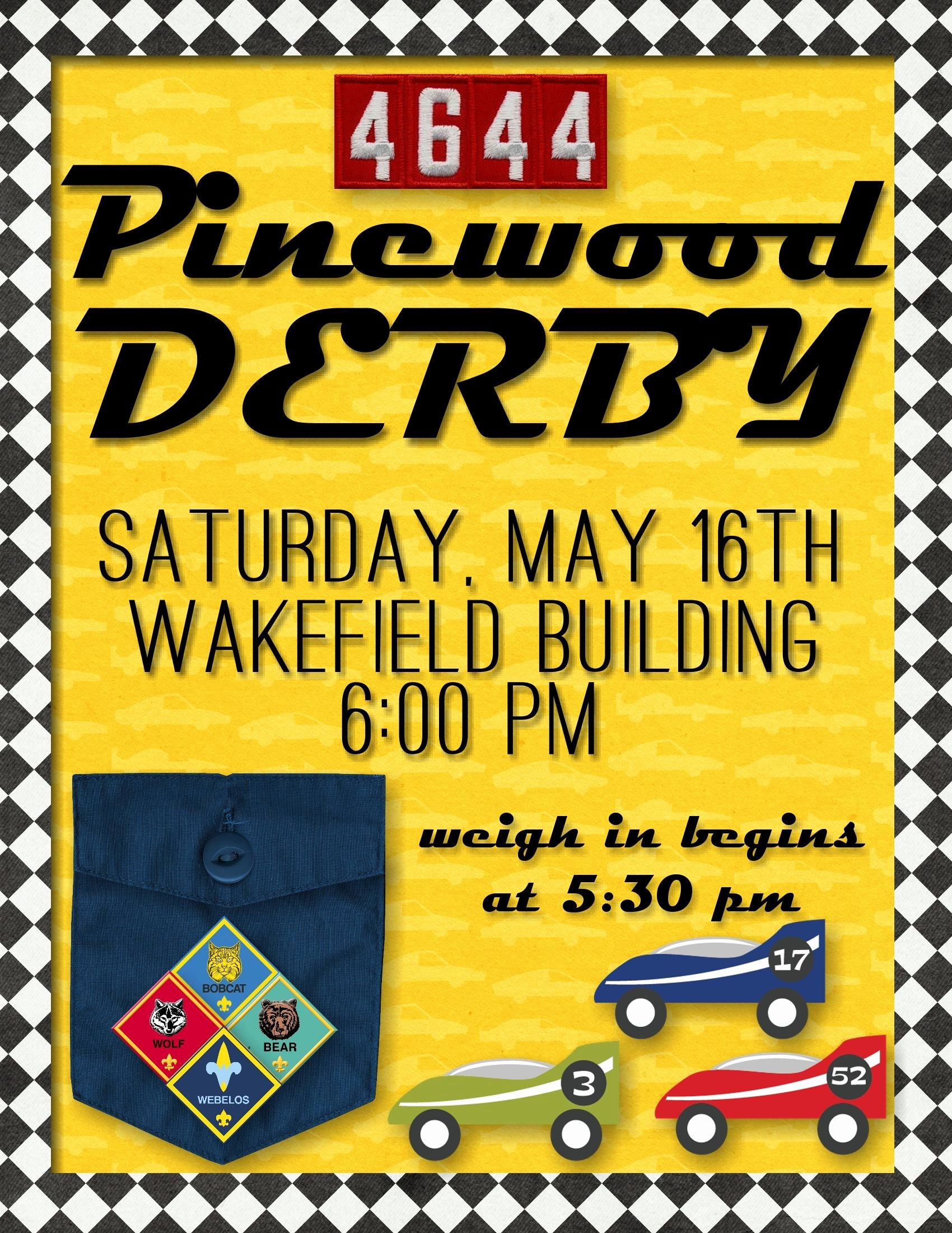 Cub Scout Flyer Template Beautiful Cub Scout Pinewood Derby Flyer Primary