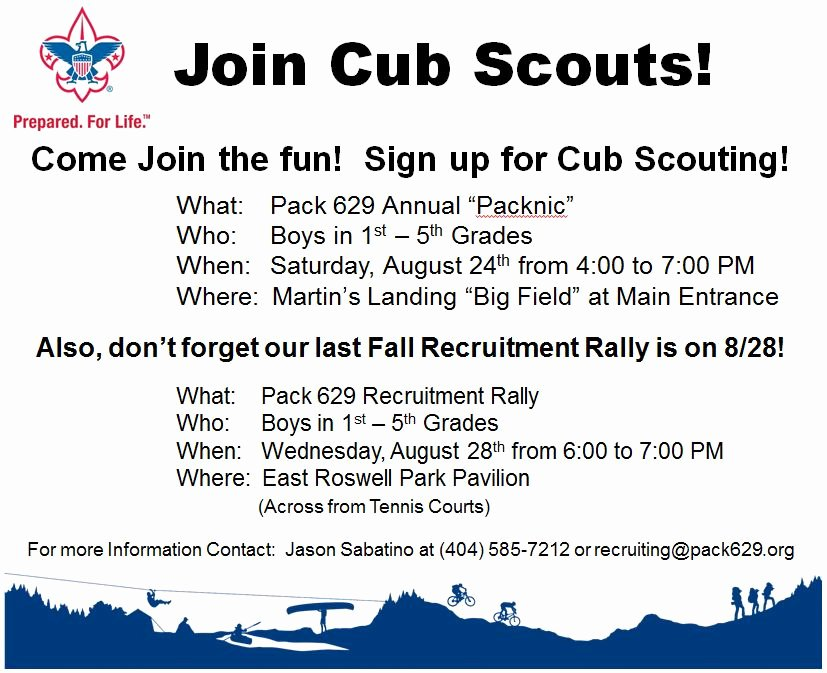Cub Scout Flyer Template Beautiful Esther Jackson Elementary Pta It S Not too Late to Join