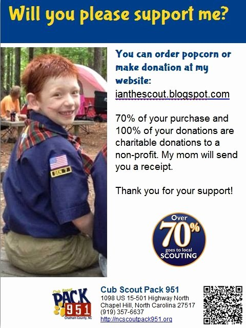Cub Scout Flyer Template Fresh Cub Scout Popcorn Sale 1 4 Flyer Made with Libraryaware