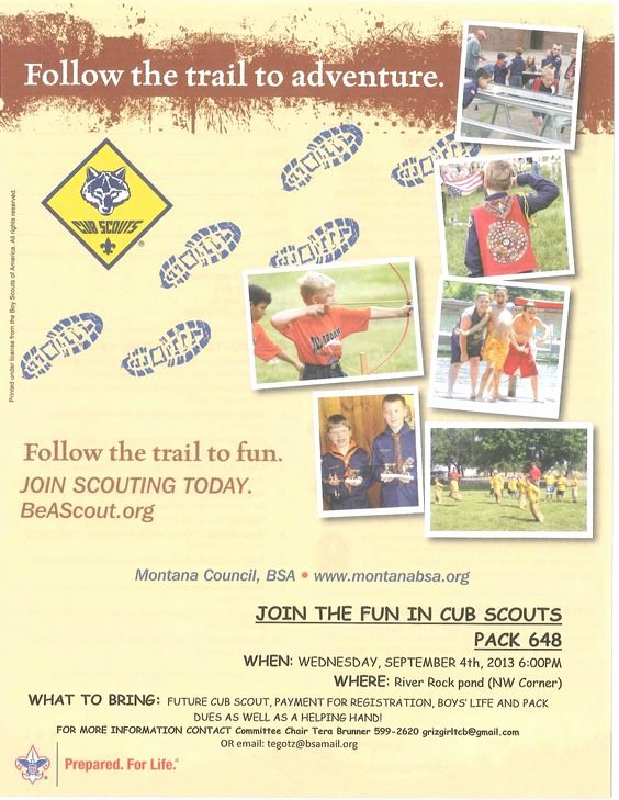 Cub Scout Flyer Template Inspirational Scouts Flyers and Cubs On Pinterest